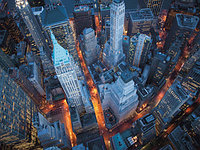 Cameron  Davidson  Aerial view of Wall Street  60х80