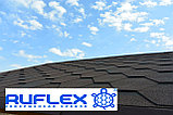 Гибкая черепица RUFLEX Sota (Тёмный Шоколад), SBS (СБС) модифицированный битум, Гарантия 35лет! +770, фото 3
