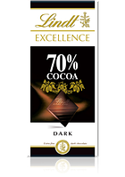 Шоколад Lindt Excellence 70% Cacao 100г.