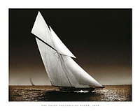 Photography Collection   The Yacht Columbia on Water 40х50
