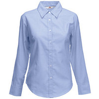 "Textile Рубашка ""Lady-Fit Long Sleeve Oxford Shirt"", светло-голубой_M, 70% х/б, 30% п/э, 135 г/м2"
