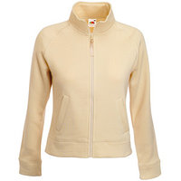 "Textile Толстовка ""Lady-Fit Sweat Jacket"", цвет слоновой кости_XS, 75% х/б, 25% п/э, 280 г/м2"