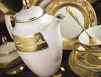 Цептер Фарфор Империал Голд-креме кофейный сервиз на 12 персон