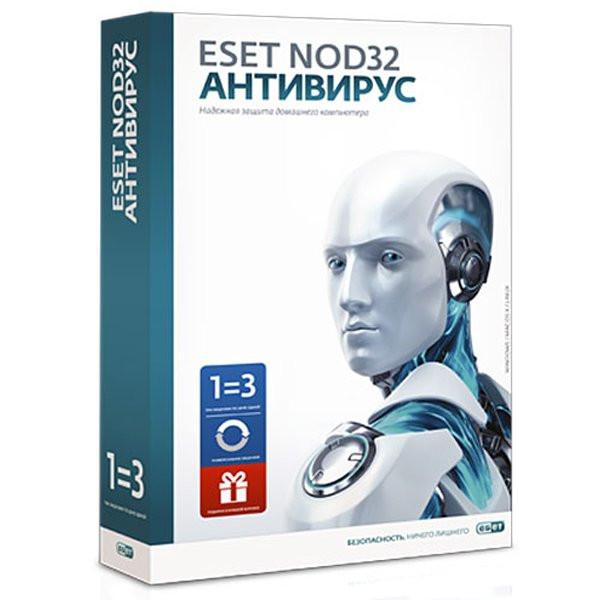 ESET NOD32 Антивирус 3 ПК / 12 мес