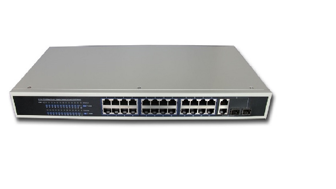 Poe switch Коммутатор Hi-NET PS2226-24P-400 24+2G Web managed POE Switch