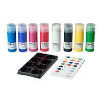 Краски МОЛА 8 шт. разные цвета ИКЕА, IKEA