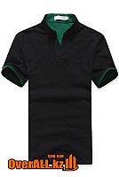 Черно-зеленая футболка поло, фото 1