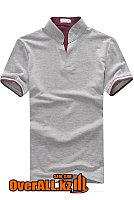 Серо-бордовая футболка поло, фото 1