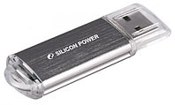 "Флеш-карта USB Silicon Power SP008GBUF2M01V1S, USB Flash Drive 8GB ""UltimaII"" (серебристый)"