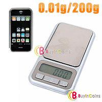 Карманные ювелирные весы 0,01 г. - 200 г. выполненные в форме iPhone, фото 1