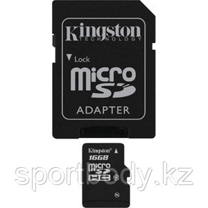 Карта памяти Kingston SDC4/16GB microSDHC Memory Card 16Gb Class4 microSD  - Modern Computers в Алматы
