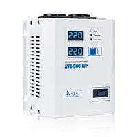 Стабилизатор (AVR), SVC, AVR-600-WP(600Вт), LED-дисплей, Диапазон работы AVR: 100-270В, 2 вых.: Shuko CEE7, Длина кабеля 1.2 м., Белый, фото 1