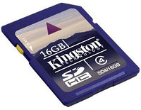 Карта памяти Kingston SD4/16GB, Secure Digital 16GB class4