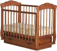 """Кроватка детская """"Кармелита"""" с ящиком (бук,орех)"""