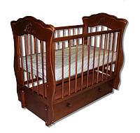 """Детская кроватка  """"Елизавета"""" орех"""