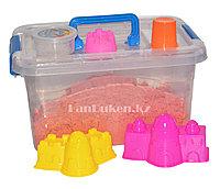 Кинетический песок для детей большой (1 Класс), живой песок (оранжевый)