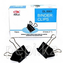 Зажим для бумаг 51мм Binder Clips.
