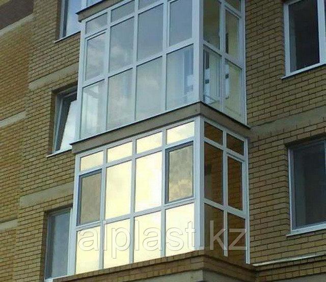 Металлопластиковые балконы (пластиковые, ПВХ)