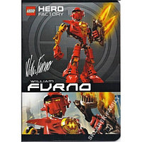Тетрадь Lego Hero Factory формат А5 32 листов в клетку