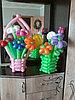 Корзина с цветами из шаров в Павлодаре