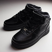 Nike Air Force 1 Mid Black Kids