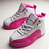 Air Jordan 12 Retro White/Pink Kids 2