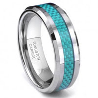 CATO Tungsten Carbide Blue Carbon Fiber Ring