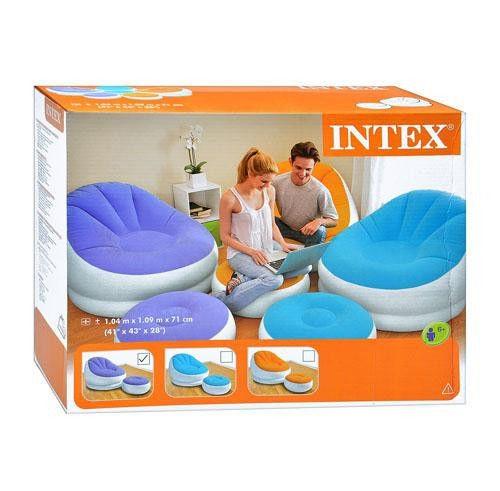 Надувное кресло с пуфиком фирмы Intex
