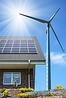 Автономная гибридная (ветро-солнечная) электростанция на 1,6 кВт/час (1 кВт/час - ВЭС и 0,6 кВт/час-СЭС) , фото 1