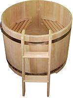 Круглая купель из кедра. Размеры: 1000х1000х1000 мм
