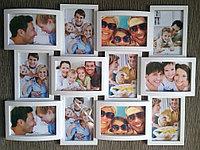 Фоторамка коллаж на 12 фотографий, белая, фото 1