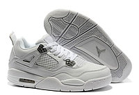 Кроссовки Air Jordan 4(IV) White Silver (37-40), фото 1