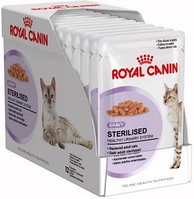 Royal Canin Sterilised in jelly, Роял Канина Стерилизид, корм для стерилизованных животных, уп.12*85гр.