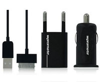 Зарядное устройство Promate ChargeMate.i4 Home and car charging kit for iPhone 4