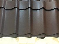 Металлочерепица коричневый покрытие санмат