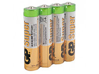 Батарейки GP Batteries Super Alkalin AAA (LR03/24ARS-2SB4) комплект - 4 штуки, пленка 48/96
