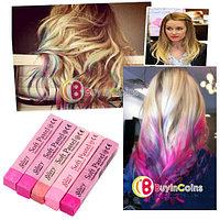 Мелки для волос красных пастельных тонов (5 цветов), фото 1