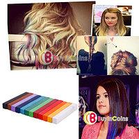 Набор цветных мелков для волос (12 цветов), фото 1