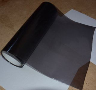 Пленка для фар черная глянец