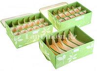 Органайзер  для хранения мелких вещей 3 в 1 (зеленый)