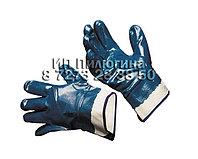 Перчатки нитриловые, манжет-крага полный облив, тяжелое покрытие