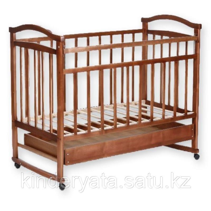 Детская кроватка-качалка Золушка 2 с ящиком