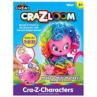 Crazy Loom Набор для творчества - фигурка Обезьянка+ цветные резиночки