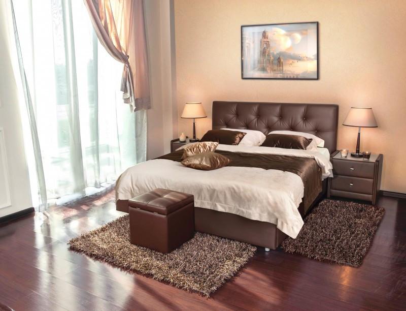 Monica венге кровать интерьерная Askona
