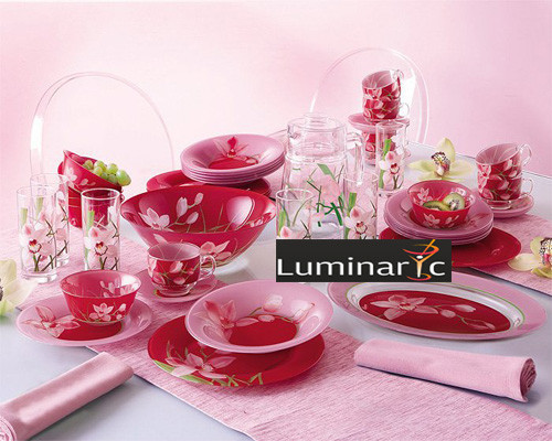 Столовый сервиз Luminarc Red Orchis 66 предметов