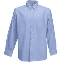 "TEXTILE Рубашка ""Long Sleeve Oxford Shirt"", светло-голубой_XL, 70% х/б, 30% п/э, 135 г/м2"