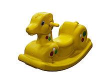 Детские качели-качалка в виде олененка (желтые)