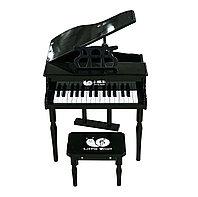 """Детское пианино """"Little Snail"""" (черное), со стулом"""