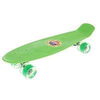 """Пенни борд 22 """"Penny board"""" со светящимися колёсами(зеленый)"""