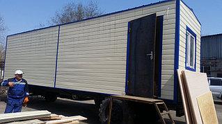Утепленный вагон на шасси 9 метров для полевого стана